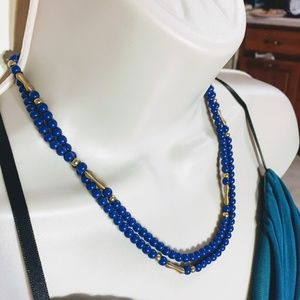 Jewelry - Cute Blue Beaded Necklace, Long or Short